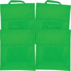Solid Color Book Pouches Set Of 4 Green by Really Good Stuff Inc