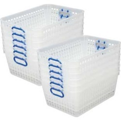 Book Baskets, Large Rectangle Clear Blue by Really Good Stuff Inc