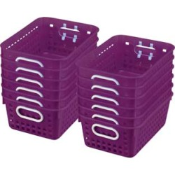 Book Baskets Medium Rectangle Royal Purple by Really Good Stuff Inc