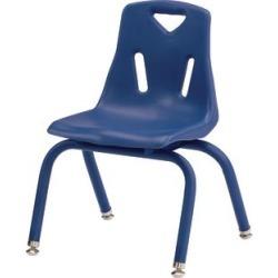 Jonti Craft Berries Stacking Chairs Powder Coated 12 Seat Height Set Of 6 Blue by Jonti-Craft Inc