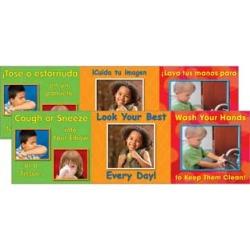 Good Hygiene Mini Posters Set English Spanish by Really Good Stuff Inc