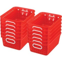 Book Baskets Medium Rectangle Red by Really Good Stuff Inc