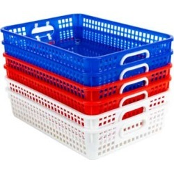Classroom Paper Baskets Patriotic Set Of 6 by Really Good Stuff Inc