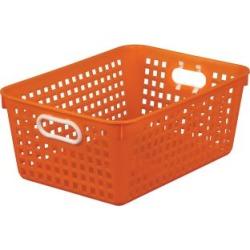 Large Rectangle Book Basket Single Basket Orange by Really Good Stuff Inc