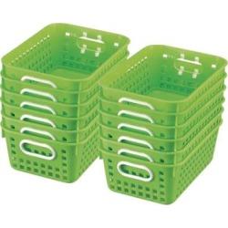 Book Baskets Medium Rectangle Green Neon by Really Good Stuff Inc