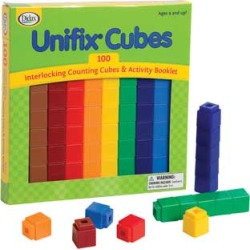 100 Unifix Cubes by Didax Educational Resources