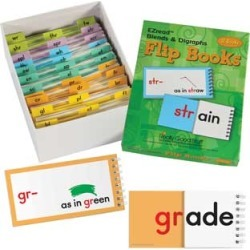 EZread Blends And Digraphs Flip Books by Really Good Stuff Inc