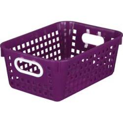 Medium Rectangle Book Basket Single Basket Royal Purple by Really Good Stuff Inc