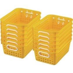 Book Baskets Medium Rectangle Yellow by Really Good Stuff Inc