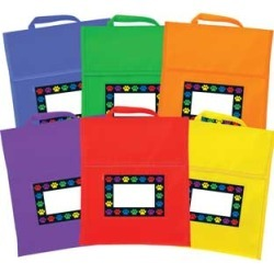 Paw Prints Book Pouches And Labels 6 Colors Set Of 12 by Really Good Stuff Inc found on Bargain Bro Philippines from really good stuff for $69.99