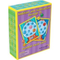 Addition And Subtraction Through 20 Gumball Facts Game by Really Good Stuff Inc