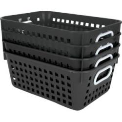 Book Baskets Medium Rectangle Black by Really Good Stuff Inc