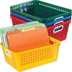 Book Baskets, Large Rectangle Primary Colors by Really Good Stuff Inc