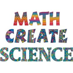Classroom Display Letters MATH, SCIENCE, CREATE by Really Good Stuff Inc