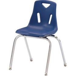 Jonti Craft Berries Stacking Chairs Chrome Plated Legs 18 Seat Height Set Blue by Jonti-Craft Inc found on Bargain Bro Philippines from really good stuff for $377.99