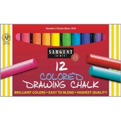 Sargent Art Colored Drawing Chalks 6 Boxes by SARGENT ART
