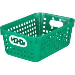Medium Rectangle Book Basket Single Basket Green by Really Good Stuff Inc