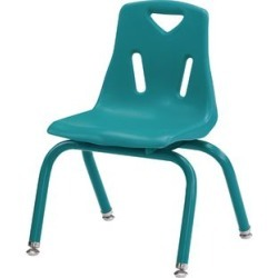 Jonti Craft Berries Stacking Chairs Powder Coated 12 Seat Height Set Of 6 Teal by Jonti-Craft Inc