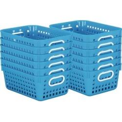 Book Baskets Medium Rectangle Blue Neon by Really Good Stuff Inc