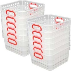 Book Baskets, Square Clear Red by Really Good Stuff Inc