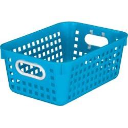 Medium Rectangle Book Basket Single Basket Blue Neon by Really Good Stuff Inc