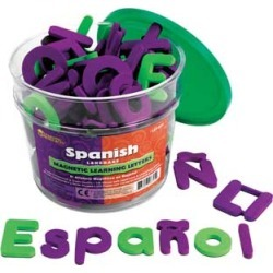 Spanish Magnetic Foam Learning Letters by Learning Resources