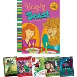 Fairy Tales In Multiple Formats Jack And The Beanstalk And Beauty And The Beast by Capstone Press