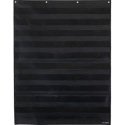 Large Rectangle Pocket Chart Black   1 pocket chart Black by Really Good Stuff Inc