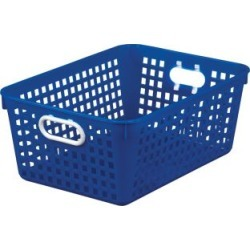 Large Rectangle Book Basket Single Basket Blue by Really Good Stuff Inc