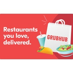 $25.0 Grubhub Gift Card at 2.0% off found on Bargain Bro Philippines from Raise.com for $24.50