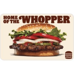 $10.00 BURGER KING® Gift Card at 2.5% off found on Bargain Bro Philippines from Raise.com for $9.75