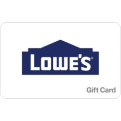 $80.0 Lowe's Gift Card at 2.6% off found on Bargain Bro Philippines from Raise.com for $77.90