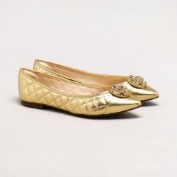 Sapatilha Catherine Delicatezza Couro Ouro found on Bargain Bro India from Capodarte for $7350.00