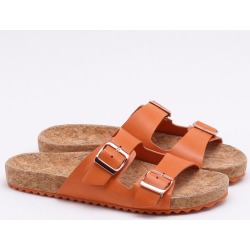 Chinelo Couro Cortiça Laranja Tangerina found on Bargain Bro India from Dumond for $137.16