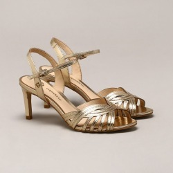 Sandália Couro Metalizada Ouro Claro found on Bargain Bro Philippines from Capodarte for $17150.00