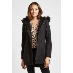 Sam Edelman Hooded Anorak Coat Black
