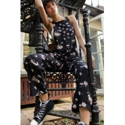 UO Albie Patchwork Dungarees - Black XS at Urban Outfitters found on Bargain Bro UK from Urban Outfitters (UK)