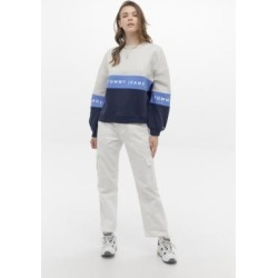 Tommy Jeans Colourblock Crew Neck Sweatshirt - blue XS at Urban Outfitters found on Bargain Bro UK from Urban Outfitters (UK)