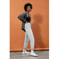 BDG Light Vintage Wash High-Waist Mom Jeans - Blue 34W 32L at Urban Outfitters found on Bargain Bro UK from Urban Outfitters (UK)