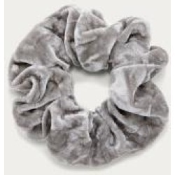 Crushed Velvet Scrunchie - Grey ALL at Urban Outfitters found on Bargain Bro UK from Urban Outfitters (UK)