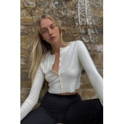 UO Ribbed Knit Cardigan - White S at Urban Outfitters found on Bargain Bro UK from Urban Outfitters (UK)