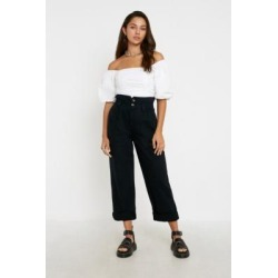 BDG Wisconsin Casual Black Trousers - black 34W at Urban Outfitters found on Bargain Bro UK from Urban Outfitters (UK)