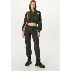 BDG Khaki Nylon Patch Pocket Cargo Trousers - Green 7 at Urban Outfitters found on Bargain Bro UK from Urban Outfitters (UK)
