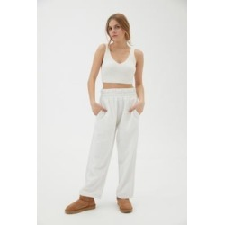 UO Olga Straight Joggers - White S at Urban Outfitters found on Bargain Bro UK from Urban Outfitters (EU)