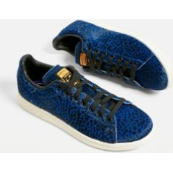 adidas Originals Stan Smith Blue Leopard Print Trainers found on MODAPINS from Urban Outfitters (UK) for USD $114.36