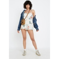 UO Highland Ruffle Tie-Shoulder Babydoll Playsuit found on MODAPINS from Urban Outfitters (UK) for USD $22.66