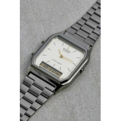 Casio AQ230 Vintage Silver Watch - Grey ALL at Urban Outfitters found on MODAPINS from Urban Outfitters (UK) for USD $83.36