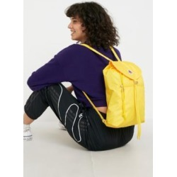 Invicta Minisac Yellow Glossy Backpack - yellow at Urban Outfitters