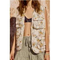 BDG Floral Utility Gilet found on MODAPINS from Urban Outfitters (UK) for USD $50.83