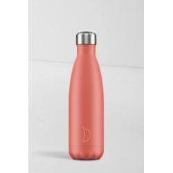 Chilly's - Wasserflasche aus Edelstahl in Pfirsich, 500 ml